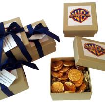 Caixas Warner moedas chocolate