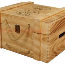 Caixas em madeira para produtos de final de ano